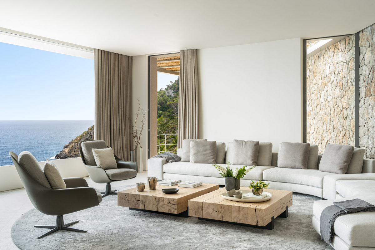 Canyamel project - Terraza Balear Interior design projects - Living room